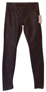 Mother Jeans Vegan Leather Skinny Pants Brown