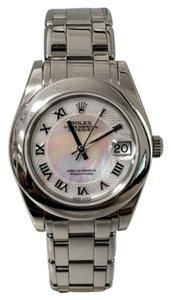 Rolex Rolex Pearlmaster 34MM 18K White Pink Mother Of Pearl Roman Dial Pearlmaster Bracelet Vintage