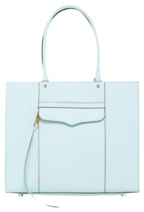 Rebecca Minkoff Medium Blue Quilted Love Affair Tote in Tranquil