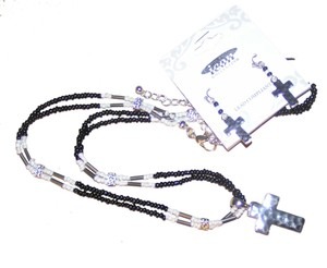 Icon BOGO Free 2pc Beaded Cross Necklace & Earring Set Free Shipping