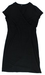 Talbots V-neck Short Sleeve Long Black Long Deep V-neck Approx. Measurements: To 17