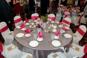 Your Chair Covers Fuchsia/Pink /Bright Satin Sashes Reception Decoration
