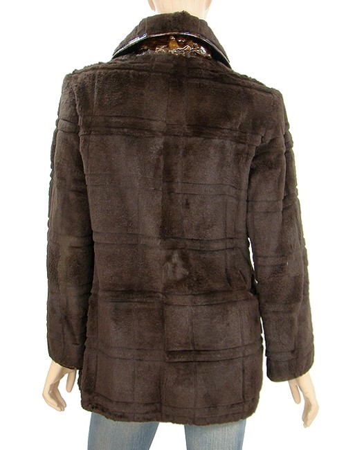 Fendi Fur Double Breasted Rabbit Brown Jacket