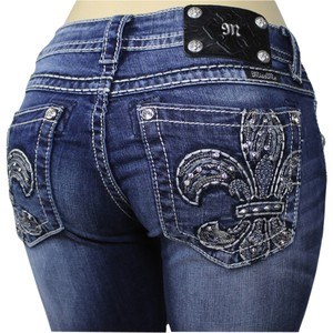 Miss Me Rock Revival Boot Cut Jeans-Medium Wash