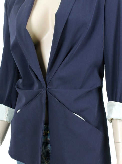 Jean-Paul Gaultier Wool Navy, Blue Blazer