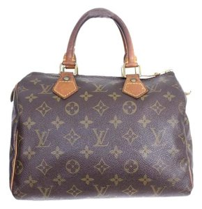 Louis Vuitton Vintage Speedy 25 Satchel in Brown