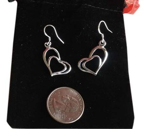 Kay Jewelers Sterling Silver .925 Intertwined Heart Dangle Earrings With Comfort Posts