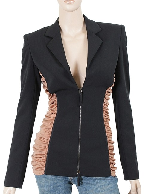 Preload https://item1.tradesy.com/images/jean-paul-gaultier-black-pink-rose-jacket-wool-jacket-with-ruched-sides-blazer-size-4-s-1077865-0-0.jpg?width=400&height=650