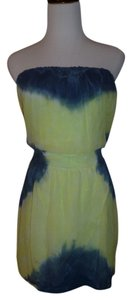 Gypsy05 short dress Blue Green Mini Tie Dye Slik Stretch on Tradesy