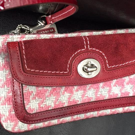Coach Wristlet in Pink And Maroon