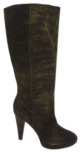 Frye Knee High Boot Distressed Gray Boots