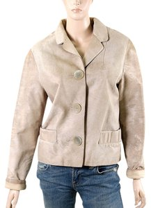 Marni Ponyhair Calfskin Fur Beige, Sand Leather Jacket