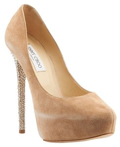 Jimmy Choo Salano Sue Stiletto Platform Tan Platforms