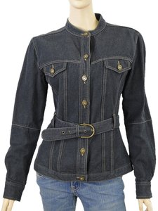 MCQ by Alexander McQueen Belted Denim Womens Jean Jacket