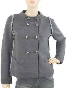 Moschino Knit Wool Silk Gunmetal Grey Jacket