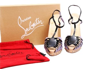 Christian Louboutin Black Nude Black/Purple/Nude Platforms