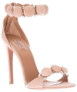 ALAÏA Suede Sandals Studded Blush Pumps
