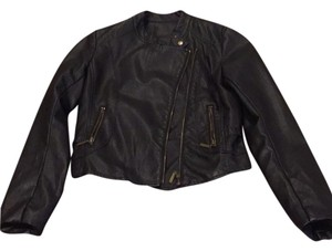 Romeo & Juliet Couture Faux Leather Leather Motorcycle Jacket