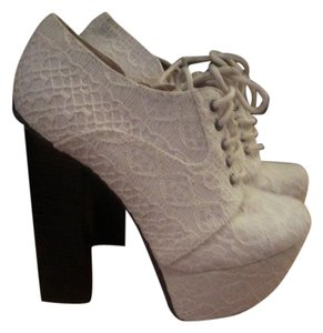 Paper Fox Ivory and Brown Platforms
