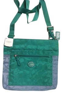 Coach Signature Nylon File Color Block Cross Body Bag
