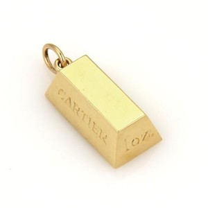 Cartier Vintage Cartier 1 Oz Ingot 18k Yellow Gold Bar Pendant Charm