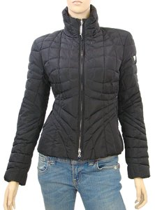 Post Card Nylon Quilted Down Black Jacket