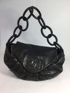 Chanel Front Flap Lambskin Hobo Bag