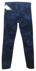 Mother Tie Dye Ankle Skinny Jeans-Dark Rinse