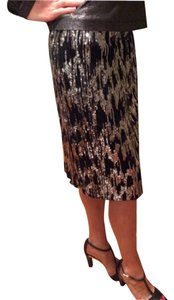 Calvin Klein Skirt Black with greyish sequins