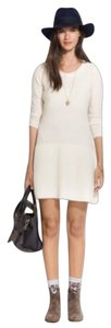 Madewell short dress Sweater Knit Cream on Tradesy