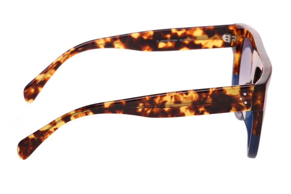 c0c52e6305cc ... CELINE Navy and Tortoiseshell Top Bar Ultra Trendy Sunglasses Made in  Italy. 123456789