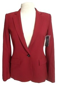 Theory Suiting Suit Wool Red Blazer
