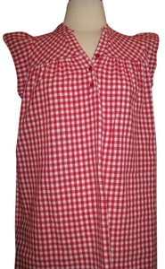 Ya Los Angeles Top WHITE AND RED CHECKER