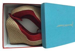 Jean-Michel Cazabat Espadrille **no Box Included** red Wedges