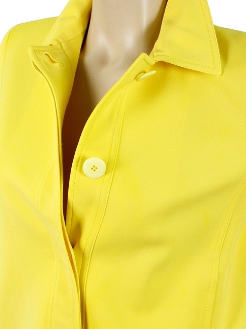 Ralph Lauren Cropped Wool Summer Spring A-line Yellow Jacket
