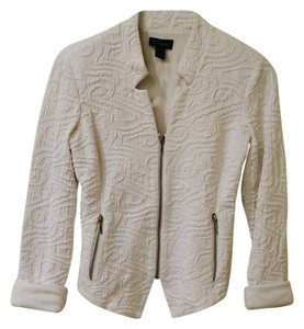 Cartise Textured Jacket Zip Up White Blazer