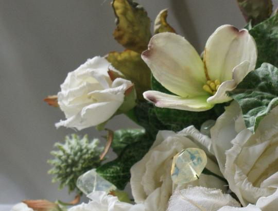 Ivory Silk Bridal Bouquet In Shades Of Other