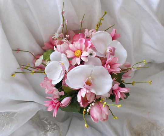 Wedding Bouquet In Shades Of Pink And White