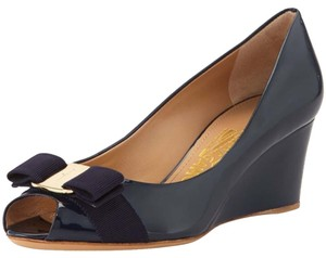 Salvatore Ferragamo Navy blue Wedges