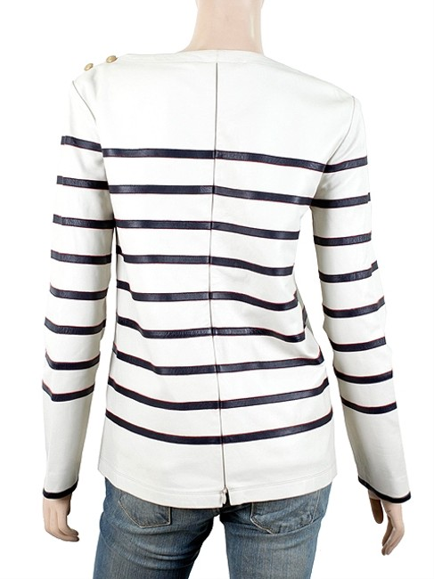 Tommy Hilfiger Striped Nautical Pullover White, Blue, Gold Jacket