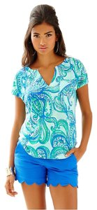 Lilly Pulitzer T Shirt Poolside Blue Keep It Curren