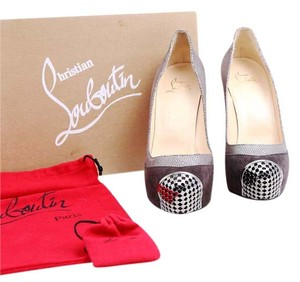 Christian Louboutin Red Soles Brown Platforms