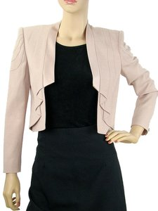 VIKTOR & ROLF Crepe Pleated Satin Rose Jacket