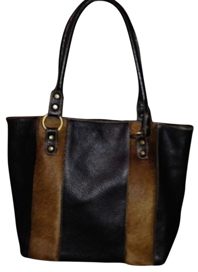 Preload https://item1.tradesy.com/images/italian-black-and-brown-leather-calf-s-hair-shoulder-bag-1078395-0-0.jpg?width=440&height=440