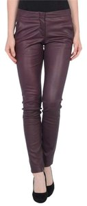 L'AGENCE Leather Trousers Lambskin Stretch Pants