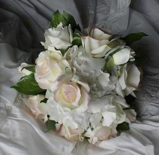 Bridal Blush Rose And Peony Bridal Bouquet In Silk