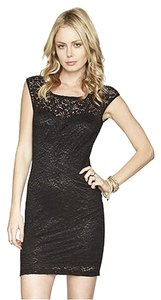 BCBGeneration Night Out Date Night Lace Bodycon Cut Out Sweetheart Sheer Dress