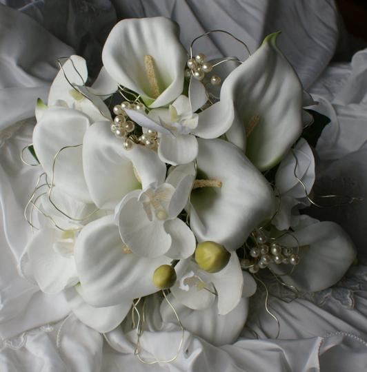 Phalaenopsis And Calla Lily Silk Bridal Bouquet