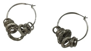 Jessica Simpson Silver hoops with smaller hoop details
