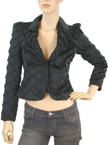 Vivienne Westwood Pleated Cropped Black Jacket